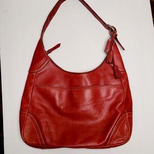 Red Coach Leather Hamilton Handbag Purse